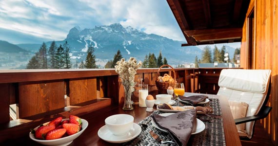 breakfast with stunning views